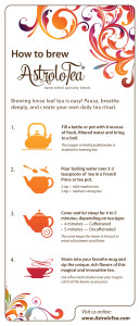 AstroloTea® how to brew tea
