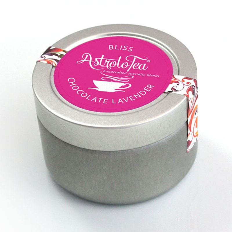 Chocolate Lavender Tea Tin